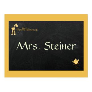 Los profesores pueden personalizar sus propias postales