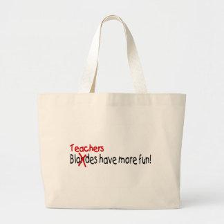 Los profesores se divierten más bolsa tela grande