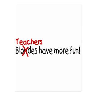 Los profesores se divierten más tarjetas postales