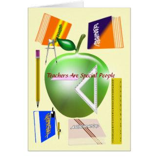 Los profesores son tarjeta especial de la gente