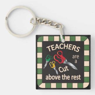 Los profesores son un corte sobre el llavero del