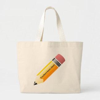los profesores tienen clase bolsas de mano