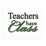 Los profesores tienen clase postal