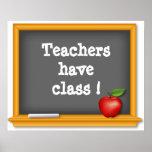 ¡Los profesores tienen clase! Poster, pizarra, App
