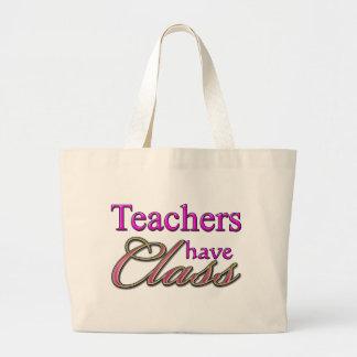 Los profesores tienen Clase-Rosado Bolsa Tela Grande