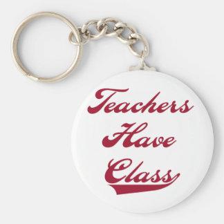 Los profesores tienen rojo de la clase llavero redondo tipo pin