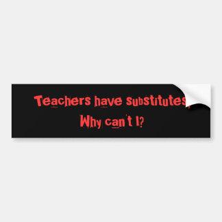 Los profesores tienen submarinos… pegatina para auto