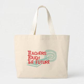 Los profesores tocan el futuro bolsas lienzo