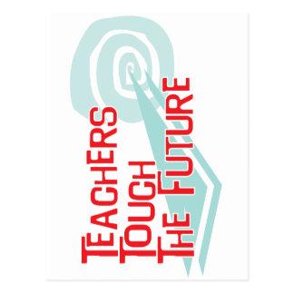 Los profesores tocan el futuro postal