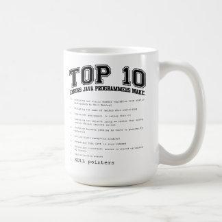 Los programadores de Java de los errores del Top Taza