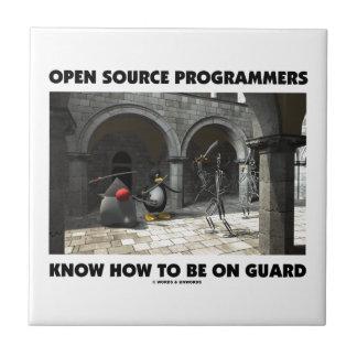 Los programadores de Open Source saben estar en Azulejo Cuadrado Pequeño