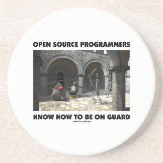Los programadores de Open Source saben estar en Posavasos De Arenisca
