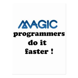 Los programadores mágicos lo hacen más rápidamente tarjeta postal