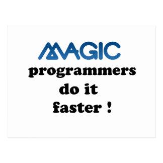 Los programadores mágicos lo hacen más rápidamente tarjetas postales
