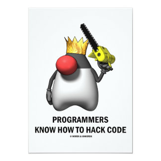 """Los programadores saben cortar el código (el duque invitación 5"""" x 7"""""""