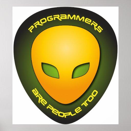 Los programadores son gente también póster
