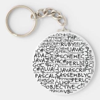 Los programadores tienen habilidades programadas m llavero redondo tipo pin