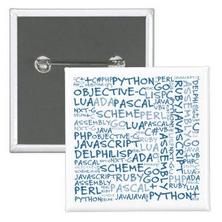 Los programadores tienen habilidades programadas m pin cuadrada 5 cm