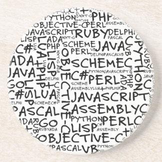 Los programadores tienen habilidades programadas m posavasos diseño