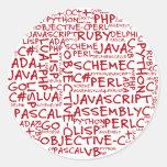 Los programadores tienen habilidades programadas etiqueta redonda