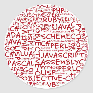 Los programadores tienen habilidades programadas pegatina redonda