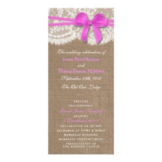 Los programas rosados rústicos de la colección del tarjeta publicitaria personalizada