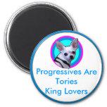 Los progresistas son rey Lovers de los conservador Iman Para Frigorífico