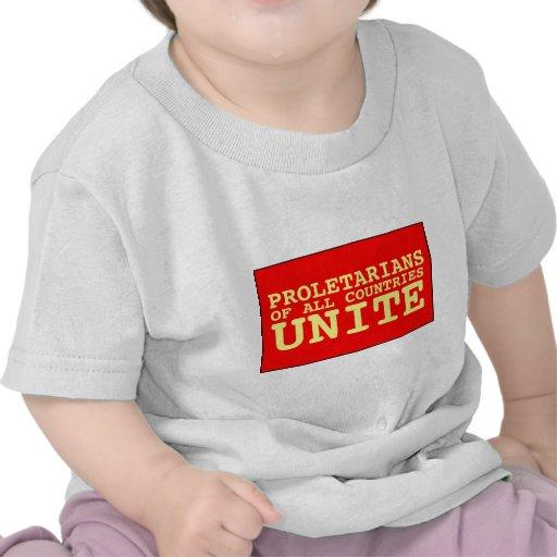 los proletarios de todos los países unen camiseta