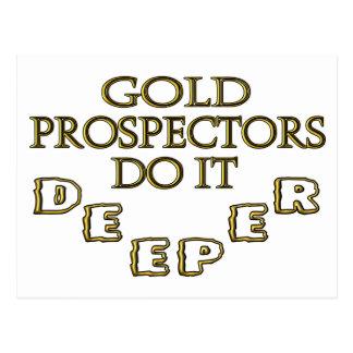 Los prospectores del oro lo hacen más profundo tarjeta postal