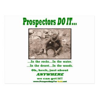 Los prospectores lo hacen… postales