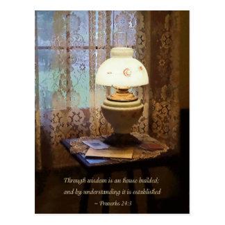 Los proverbios 24 3 con la sabiduría son una casa tarjeta postal