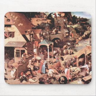 Los proverbios holandeses de Pieter Bruegel Mousepad