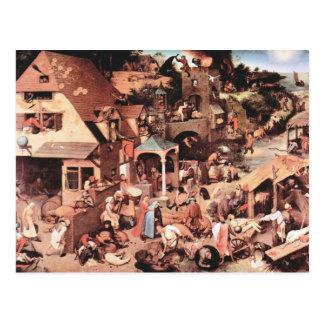 Los proverbios holandeses de Pieter Bruegel Tarjetas Postales