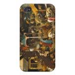 Los proverbios holandeses - Pieter Bruegel iPhone 4 Protector