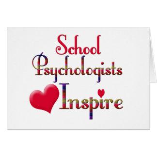 Los psicólogos de la escuela inspiran tarjeta