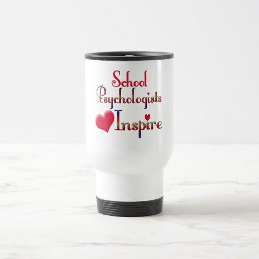 Los psicólogos de la escuela inspiran taza de café