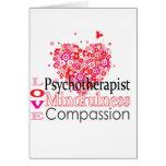 Los psicoterapeutas son compasivos felicitación