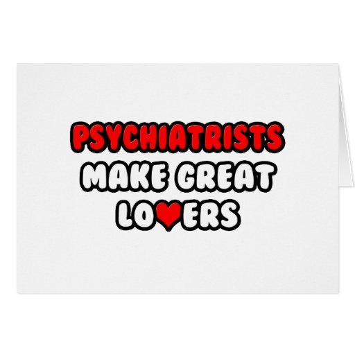 Los psiquiatras hacen a grandes amantes felicitacion