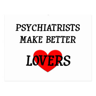 Los psiquiatras hacen a mejores amantes tarjetas postales
