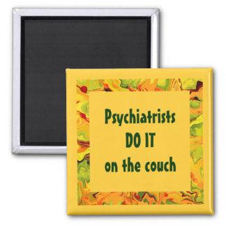 los psiquiatras humor imán cuadrado
