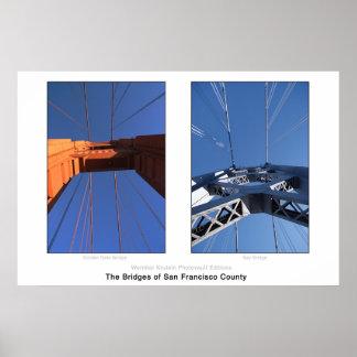 Los puentes del condado de San Francisco Posters