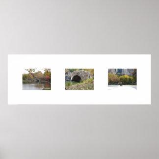 Los puentes en color póster