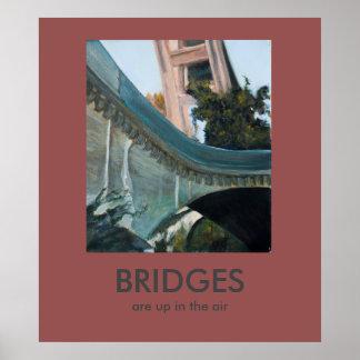 Los puentes están para arriba en el poster de póster