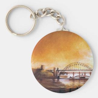 Los puentes, Newcastle sobre el llavero de Tyne
