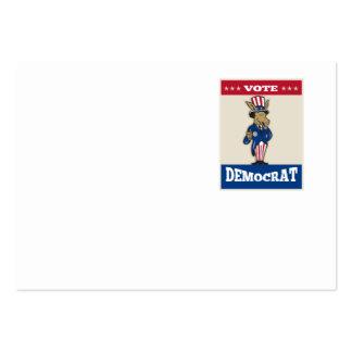 Los pulgares de la mascota del burro de Demócrata Tarjetas De Visita Grandes
