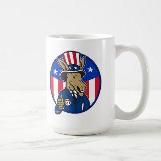 Los pulgares de la mascota del burro de Demócrata  Taza De Café