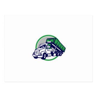 Los pulgares del conductor de camión del postal