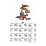 los pulgares divertidos suben el dibujo animado tarjetas de visita grandes