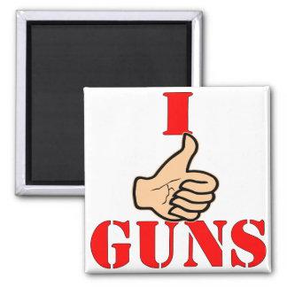 Los pulgares para arriba tengo gusto de los armas imán cuadrado