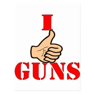 Los pulgares para arriba tengo gusto de los armas postal